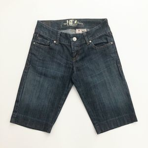 !It Los Angeles Jean Shorts Dark Wash 25